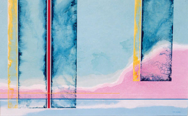 Landscape Art Print featuring the painting Transitory Veils by Lyle Crump