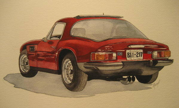 Car Art Print featuring the painting Trevors Tvr by Victoria Heryet