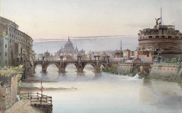 View Art Print featuring the painting View Of Rome by I Martin