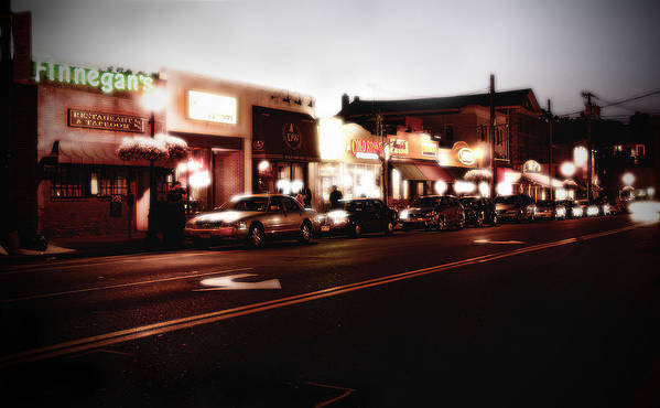 Long Island Art Print featuring the photograph Wall Street by Michael Simeone