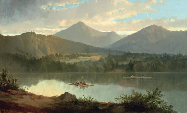 Western Art Print featuring the painting Western Landscape by John Mix Stanley