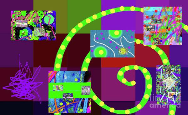 Walter Paul Bebirian Art Print featuring the digital art 9-21-2015eabcdefghijklmnopqrtuv by Walter Paul Bebirian