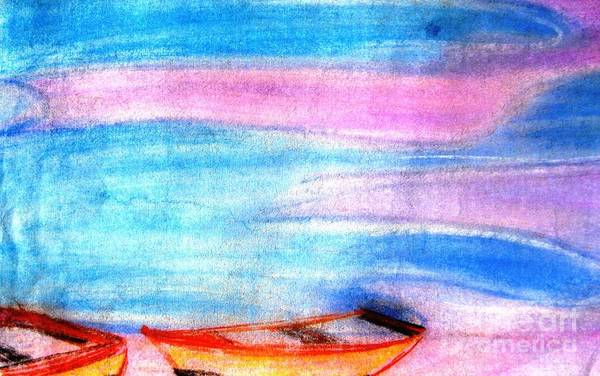 Boats Print featuring the painting Early Morning by Duygu Kivanc