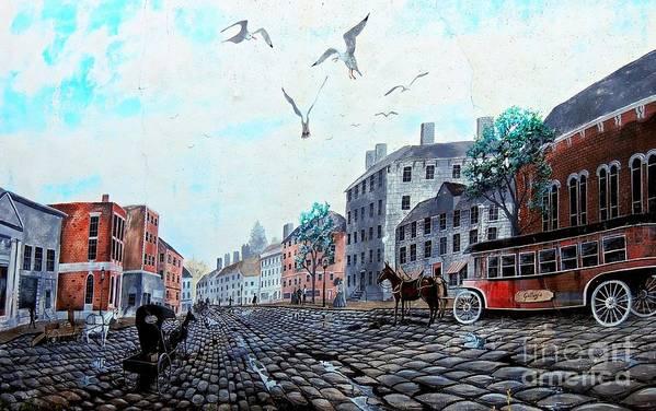 Landmark Art Print featuring the photograph 19th Century Mural by Marcia Lee Jones