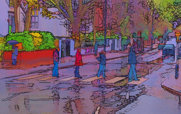 Abbey Road Album Art Print featuring the photograph Abbey Road Crossing by Chris Thaxter