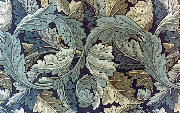 William Print featuring the tapestry - textile Acanthus Leaf Design by William Morris