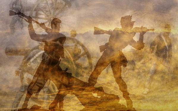 Confederate Art Print featuring the digital art At A Place Called Gettysburg Ver Two by Randy Steele