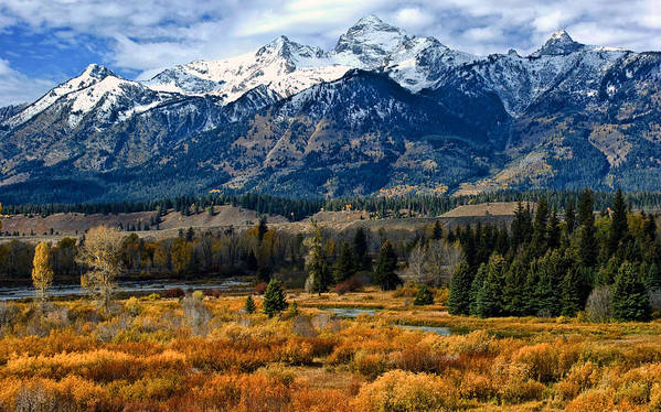 Mountain Art Print featuring the photograph Autumn In The Tetons by Brian Kerls