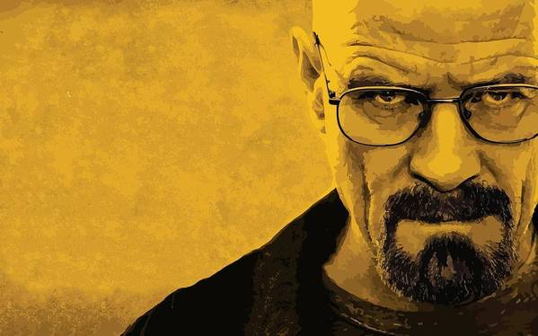 Breaking Art Print featuring the drawing Breaking Bad by Gianfranco Weiss