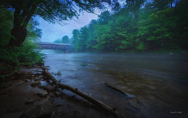 Wooden Art Print featuring the photograph Covered Bridge by Everet Regal