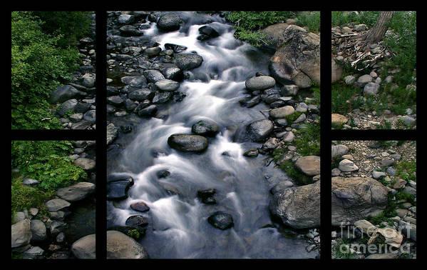 Creek Art Print featuring the digital art Creek Flow Polyptych by Peter Piatt