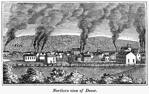 1844 Art Print featuring the painting Dover, New Jersey, 1844 by Granger
