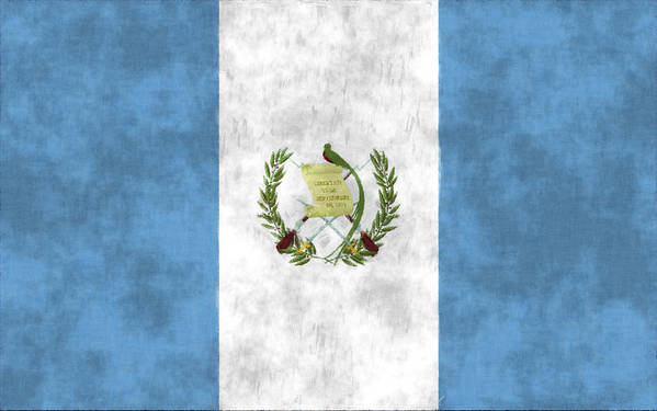 Central America Art Print featuring the digital art Flag Of Guatamala by World Art Prints And Designs