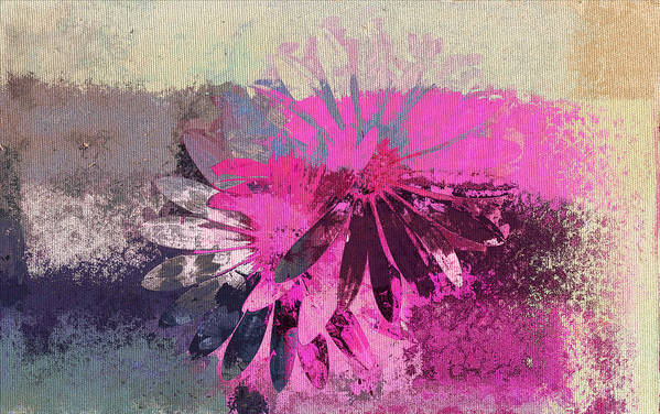 Daisies Art Print featuring the digital art Floral Fiesta - S31at01b by Variance Collections