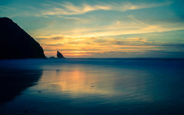 Sea Art Print featuring the photograph Into The Blue IIi by Marco Oliveira
