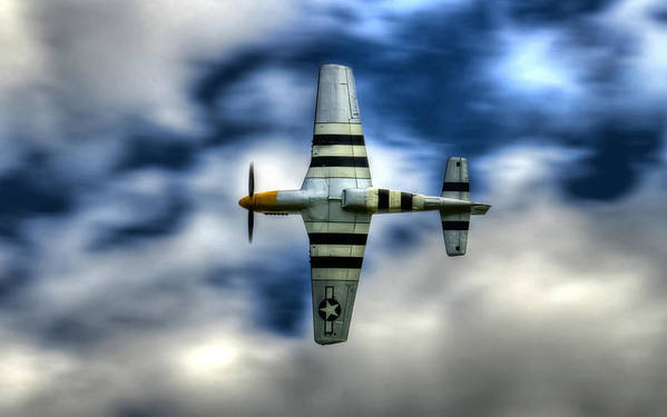 P51 Mustang Print featuring the photograph P51d Mustang Ferocious Frankie by Phil 'motography' Clark