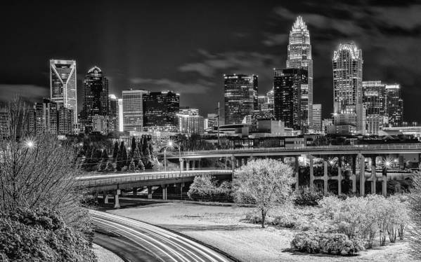 Charlotte Art Print featuring the photograph Snowy South by Brian Young