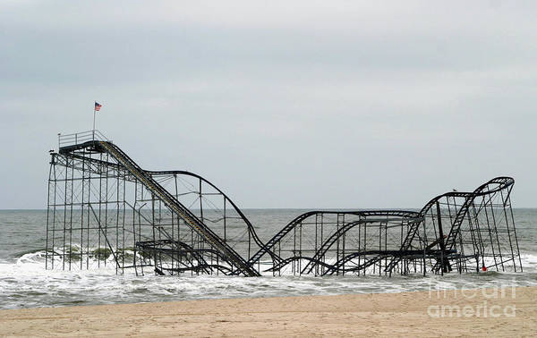 Iconic Art Print featuring the photograph The Jetstar Rollercoaster In Seaside Heights Nj by Living Color Photography Lorraine Lynch