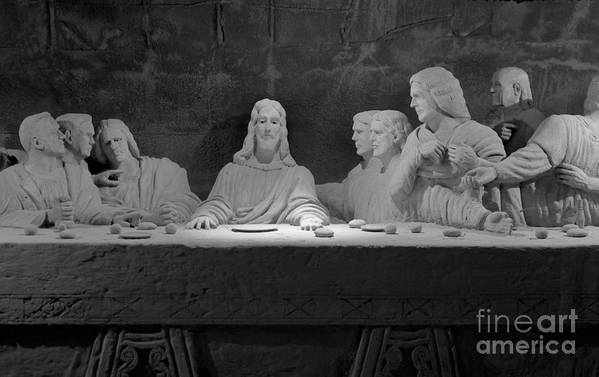 Christ Art Print featuring the photograph The Last Supper by David Ricketts