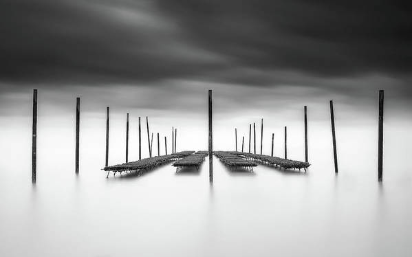 Bar Art Print featuring the photograph The Oyster Bar by Christophe Staelens
