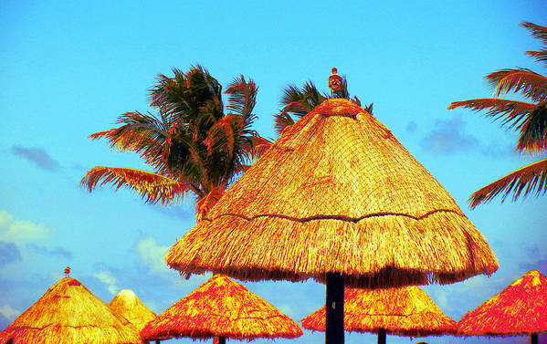 Beach Art Print featuring the photograph Tiki Huts by J Anthony
