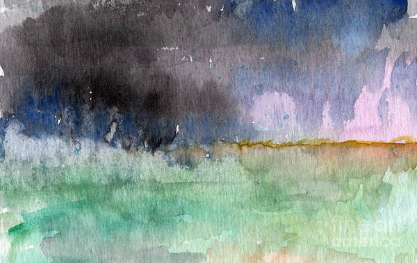 Abstract Landscape Art Print featuring the painting Voices Carry by Linda Woods