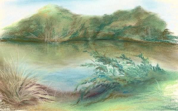 River Art Print featuring the pastel Waccamaw Dreams by MM Anderson