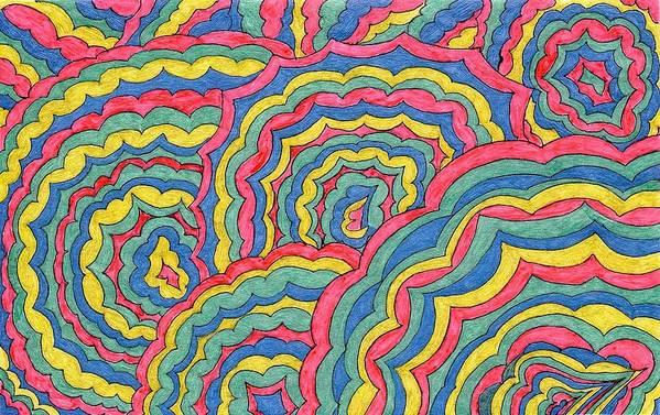 Celebrate Art Print featuring the mixed media Celebrate by Lesa Weller