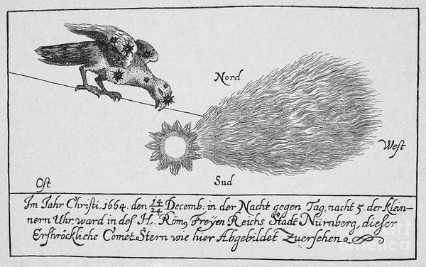 1664 Art Print featuring the photograph Comet, 1664 by Granger