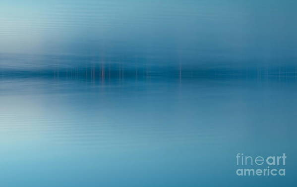 Nature Print featuring the digital art Blue Lake by Odon Czintos