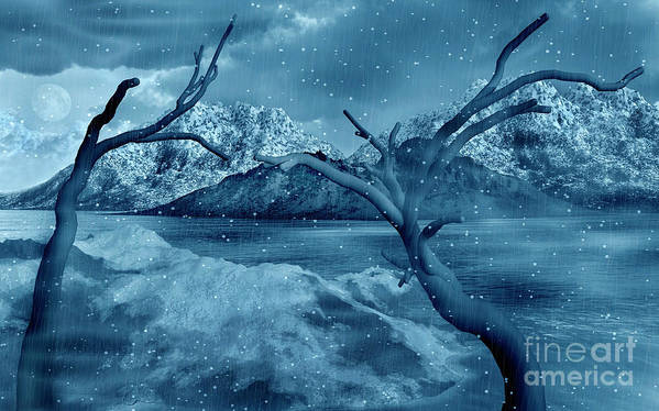 No People Art Print featuring the digital art Artists Concept Of A Dangerous Snow by Mark Stevenson