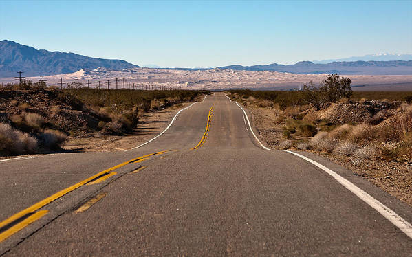 Landscape Art Print featuring the photograph Road To Kelso Dunes by Dennis Hofelich