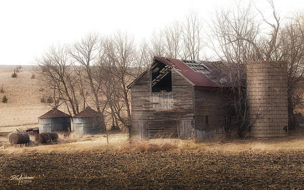 Landscape Art Print featuring the photograph Rustic Old Barn by Don Anderson