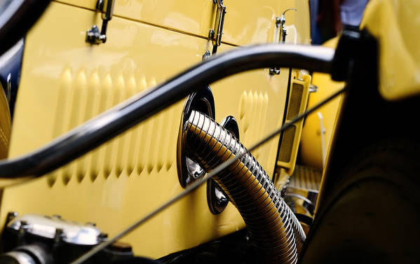 Rolls Royce Art Print featuring the photograph Yellow Rolls Royce by Robert Festerling