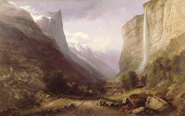 Swiss Art Print featuring the painting Swiss Scene by Samuel Jackson