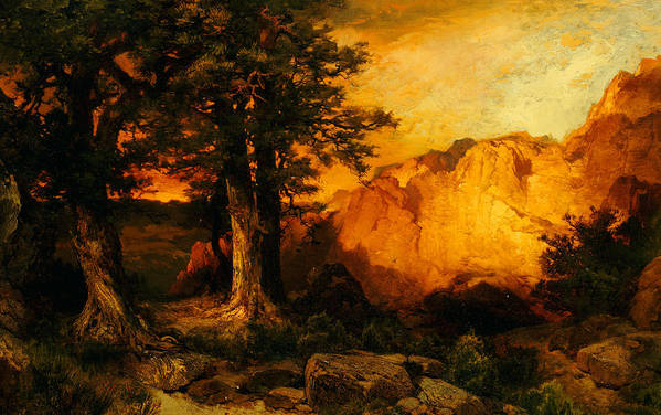 Thomas Moran Art Print featuring the painting The Grand Canyon by Thomas Moran