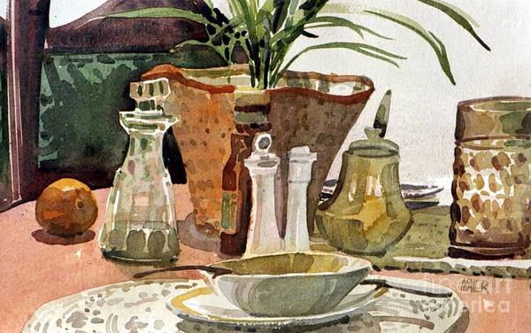Still Life Art Print featuring the painting After Lunch by Donald Maier