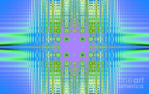 Abstract Art Print featuring the digital art Aztec Computer by Thomas Smith