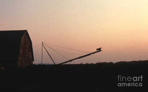 Barn Art Print featuring the photograph Barn At Sunset by Timothy Johnson