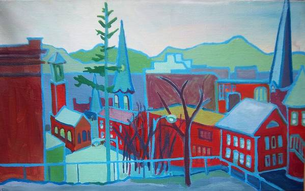 Burlington Art Print featuring the painting Blue Burlington by Debra Bretton Robinson