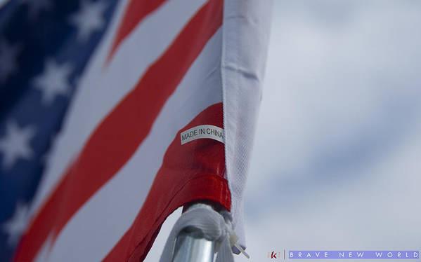 American Flag Art Print featuring the photograph Brave New World by Jonathan Ellis Keys