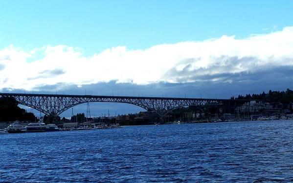 Bridge Art Print featuring the photograph Bridge Sky by Melissa KarVal