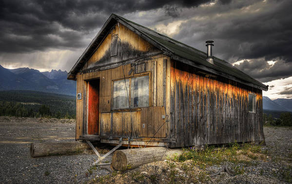 Architecture Art Print featuring the photograph Busted Shack by Wayne Sherriff