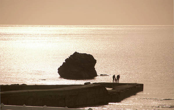 Couple Art Print featuring the photograph By The Sea by Phil Child