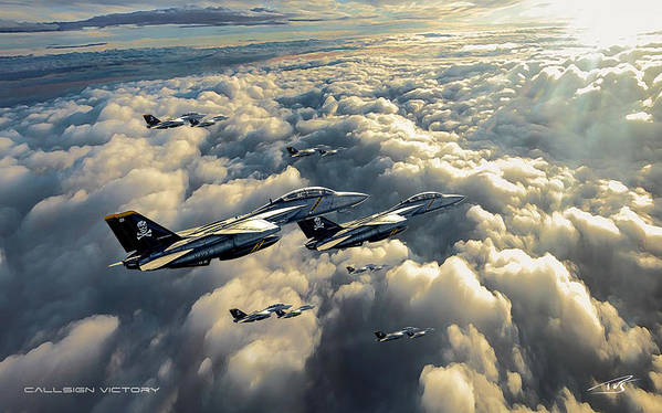 War Art Print featuring the digital art Callsign Victory by Peter Van Stigt