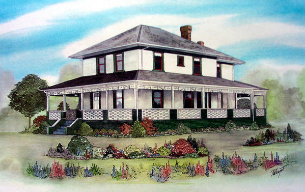 House Art Print featuring the painting Cammidge House by Victoria Heryet