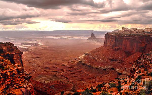 Panoramic Print featuring the photograph Canyonland Rain by Robert Bales