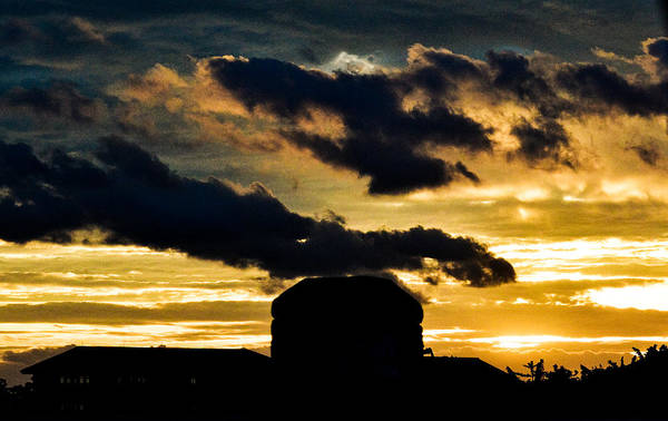 Natural Art Print featuring the photograph Cloudy Sunset by R Chandra