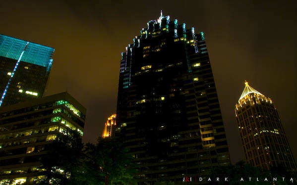 Atlanta Art Print featuring the photograph Dark Atlanta by Jonathan Ellis Keys