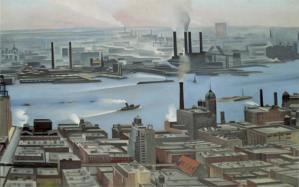East River From The 30th Story Of The Shelton Hotel Art Print featuring the photograph East River From Shelton Hotel by Georgia O'keeffe